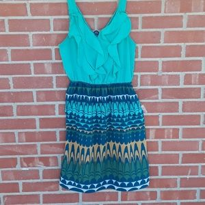 Mossimo ruffle front swirled skirt dress size Med